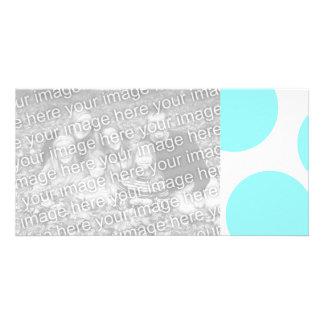Aqua Polka Dot Card