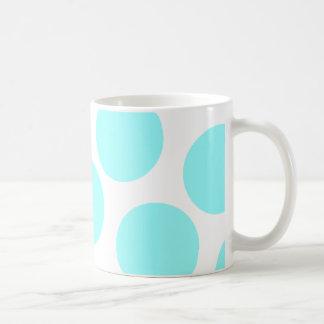 Aqua Polka Dot Coffee Mug