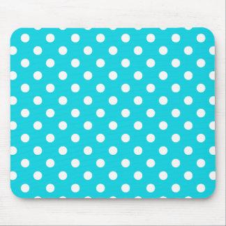 Aqua Polka Dot Pattern Mousepad