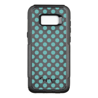 Aqua Polka Dots OtterBox Commuter Samsung Galaxy S8+ Case