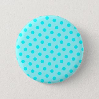 Aqua Polka Dots Pinback Button