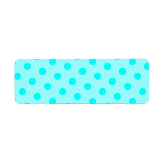 Aqua Polka Dots Return Address Label