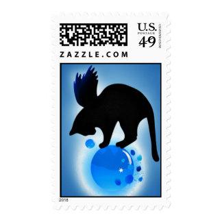Aqua Postage Stamp