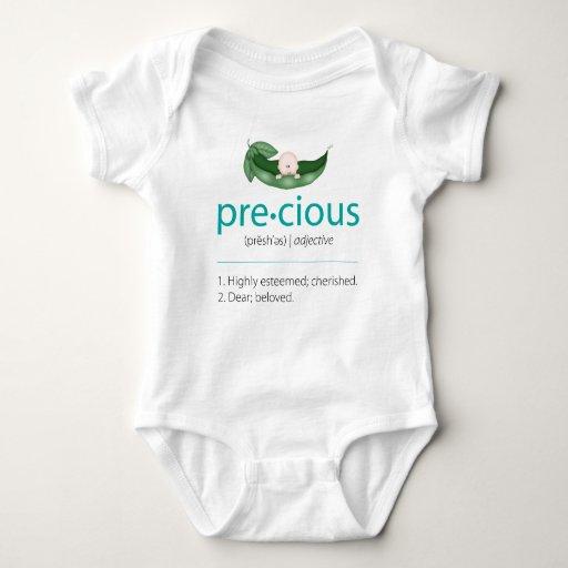 "Aqua ""Precious"" Pea-in-a-Pod Baby Tee"
