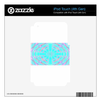 aqua psychedelic iPod touch 4G decals