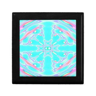 aqua psychedelic keepsake box