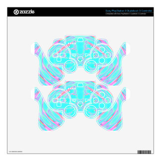 aqua psychedelic skins for PS3 controllers