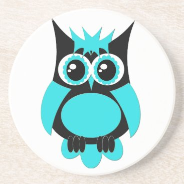 Halloween Themed Aqua Punk Owl Coaster