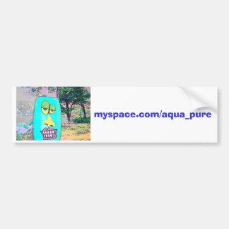 Aqua Pure Car Love Bumper Sticker