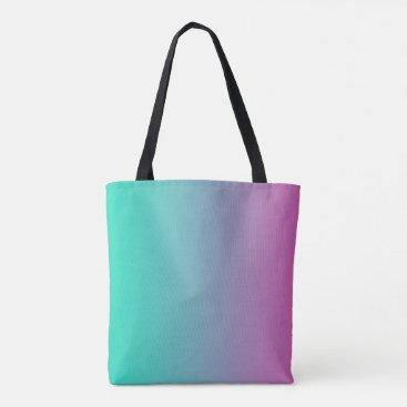 Aqua Aqua Purple Blended Tote Bag