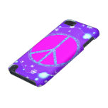 Aqua Purple Cute Christmas Peace Sign Stars iPod Touch (5th Generation) Case