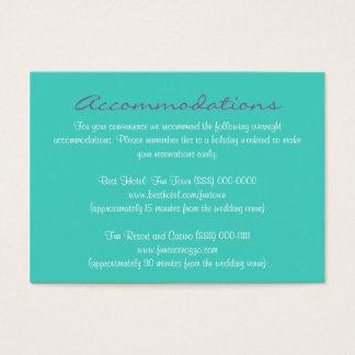 Aqua Purple Insert Reception & Accommodation Cards