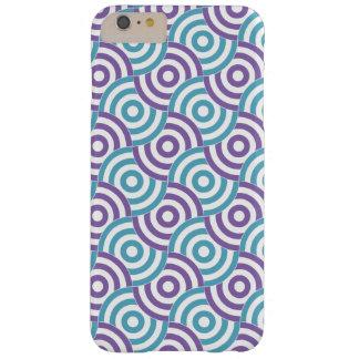 Aqua/Purple Overlapping Bullseye iPhone 6+ Case