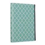 Aqua Quatrefoil Clover Pattern iPad Case