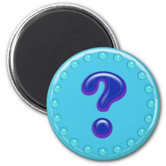 Aqua Question Mark Magnet
