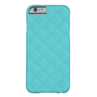 Aqua Quilted Leather Barely There iPhone 6 Case