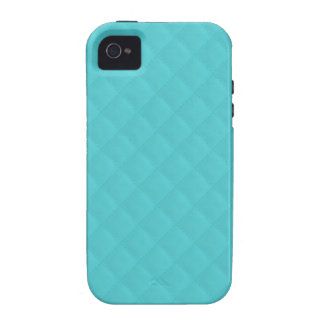 Aqua Quilted Leather Wedding iPhone 4 Cover