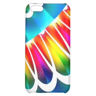 Aqua Rainbow Lace Speck Case iPhone 5C Covers