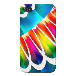 Aqua Rainbow Lace Speck Case Cover For iPhone 4