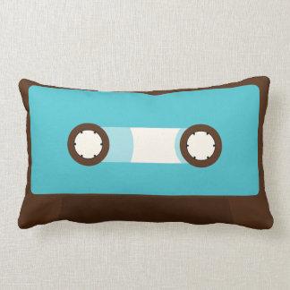 Aqua Retro Cassette Tape Pillows