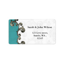 aqua return address label