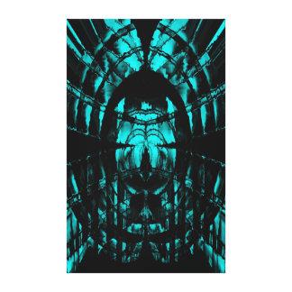 Aqua Reverb Stretched Canvas Print