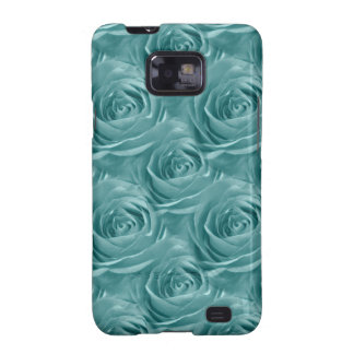 Aqua Rose Center Abstract Floral Photo Pattern Galaxy S2 Cover