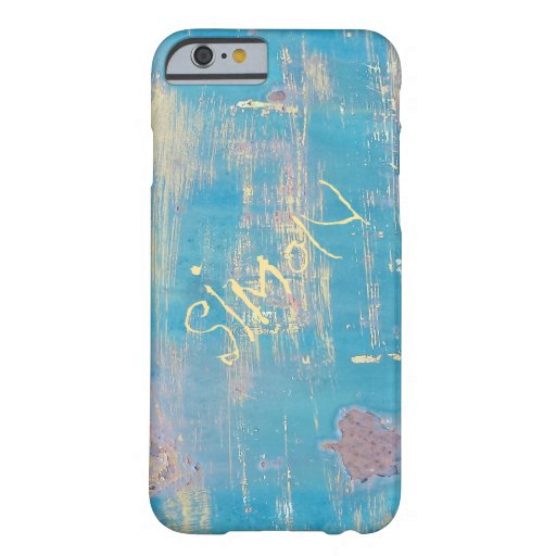 Aqua rustic distressed custom name iphone 6 case zazzle for How to customize your iphone case