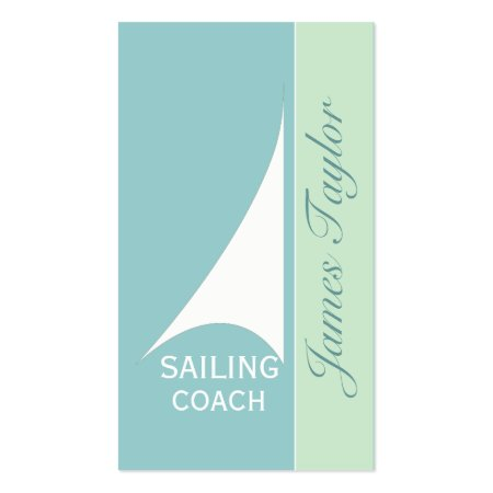 Light Blue Nautical Sailing Coach Business Cards