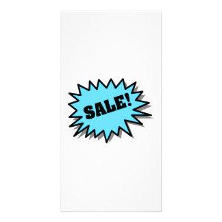 Aqua Sale Custom Photo Card
