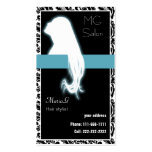 Aqua Salon businesscards and appointment Business Card Template