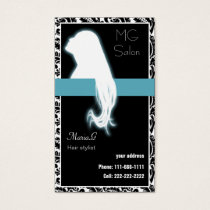 Aqua Salon businesscards and appointment Business Card
