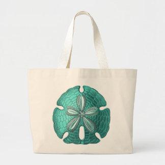 Aqua Sand Dollar Jumbo Tote Bag
