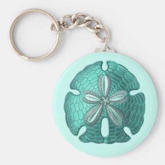 Aqua Sand Dollar Keychain