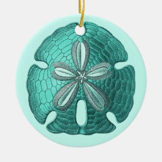 Aqua Sand Dollar Ornament