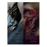 Aqua & Satin Fire Bookmarks by Kim McElroy Postcards