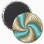 Aqua Satin - Fractal Magnet