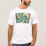 Aqua Satin - Fractal T-Shirt