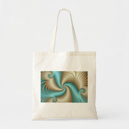 Aqua Satin - Fractal Tote Bag