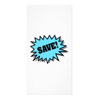 Aqua Save Photo Card