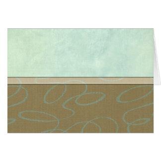 Aqua Scribble Card