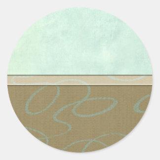 Aqua Scribble Classic Round Sticker