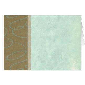 Aqua Scribble Side Border Card