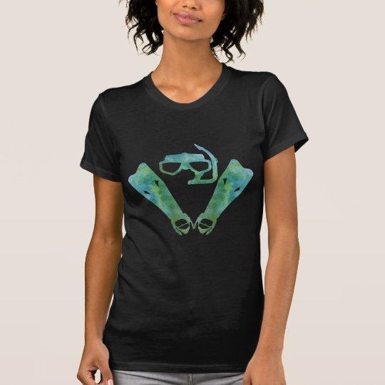 Aqua SCUBA Fins and Mask T-Shirt