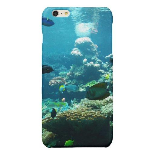 aqua sea fish sea trolley glossy iPhone 6 plus case