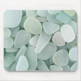 Aqua Sea Glass Mouse Pad