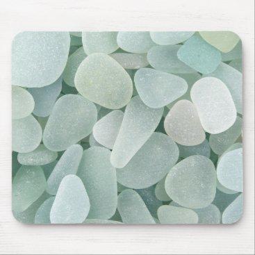 thestrandlineart Aqua Sea Glass Mouse Pad