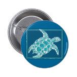Aqua Sea Turtle Buttons