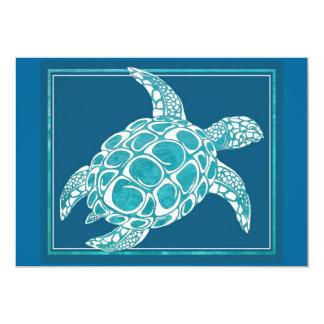Aqua Sea Turtle Card