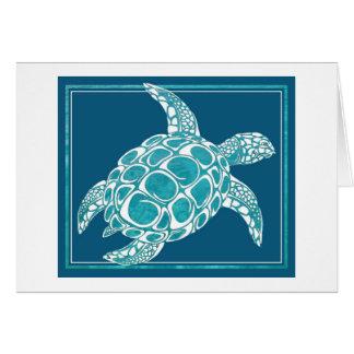 Aqua Sea Turtle Greeting Card